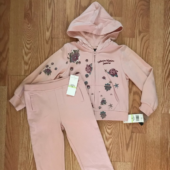 eb6189c22c3a Girls 2 piece set hoodie jacket and sweat pants